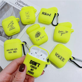 Fluorescent Color Letters Airpods/Airpods Pro Case