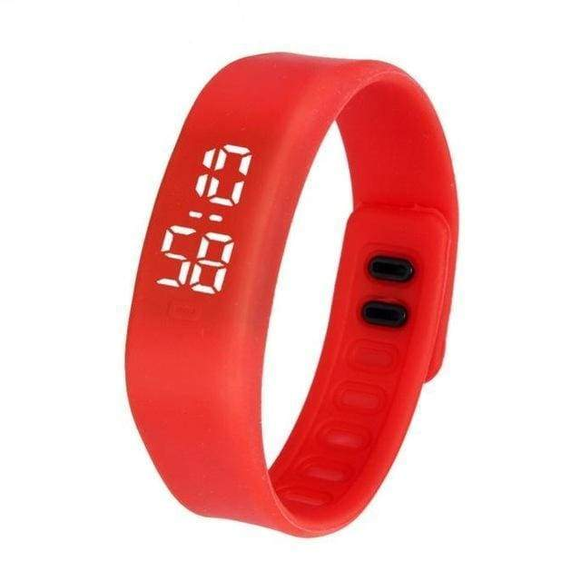 Free Fit Digital Watch - red