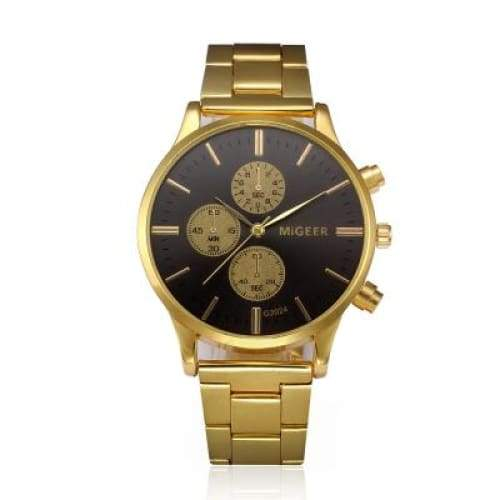 Free Royal Gold Watch - Black Face
