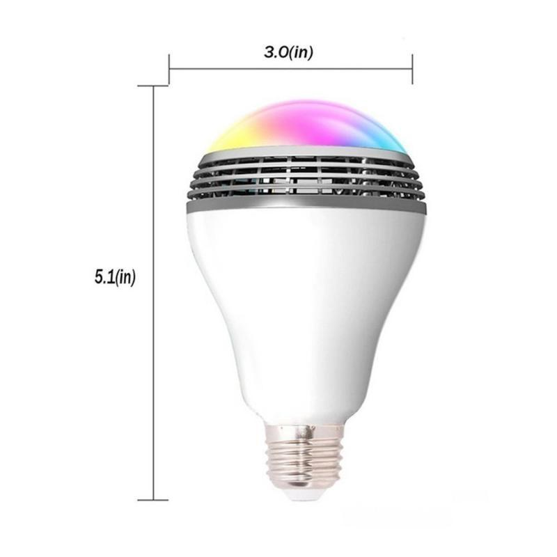 Smart Colour Changing LED Bulb with Wireless Bluetooth Speaker