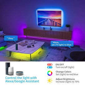 Smart Led Strip with Alexa Google