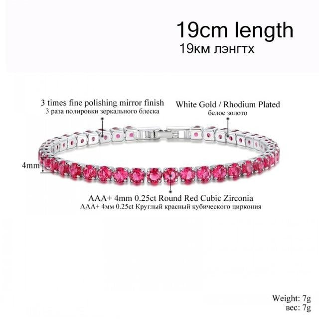 fake red diamond tennis bracelet cheap authentic appearance
