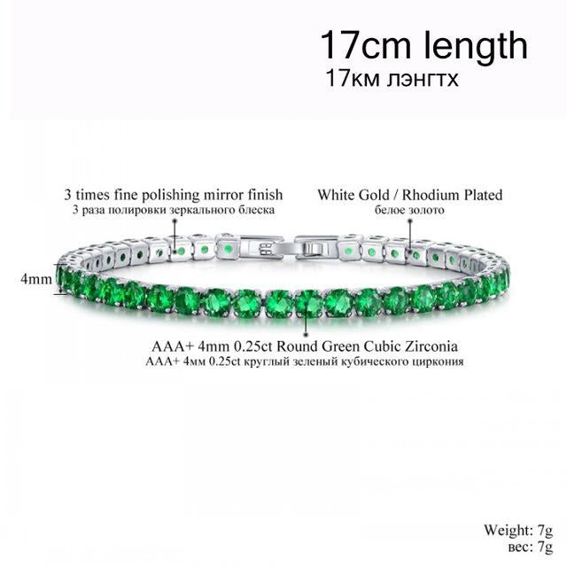 fake green diamond tennis bracelet cheap authentic appearance