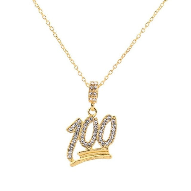 100 Iced out Emoji chain