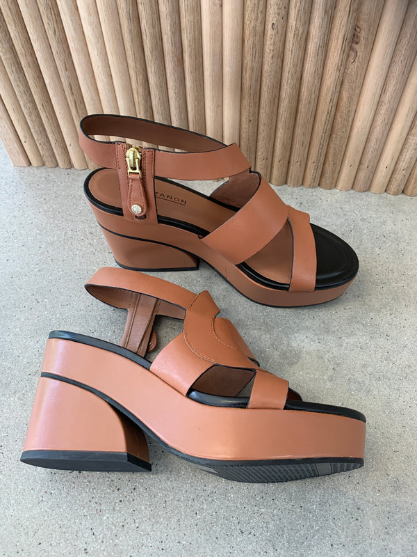 PARMA WEDGE TAN
