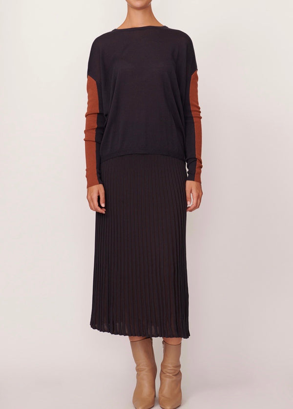 SCOPE RIBBED SKIRT SLATE