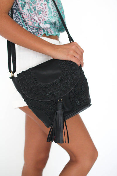 Black Amira Bucket Bag