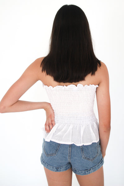 White Qiana Top