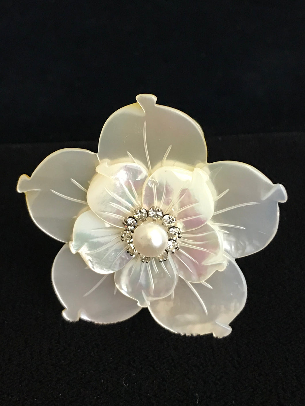 Mother of Pearl Double Flower Magnet