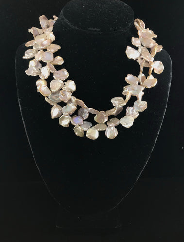 Natural Keishe Pearl Necklace