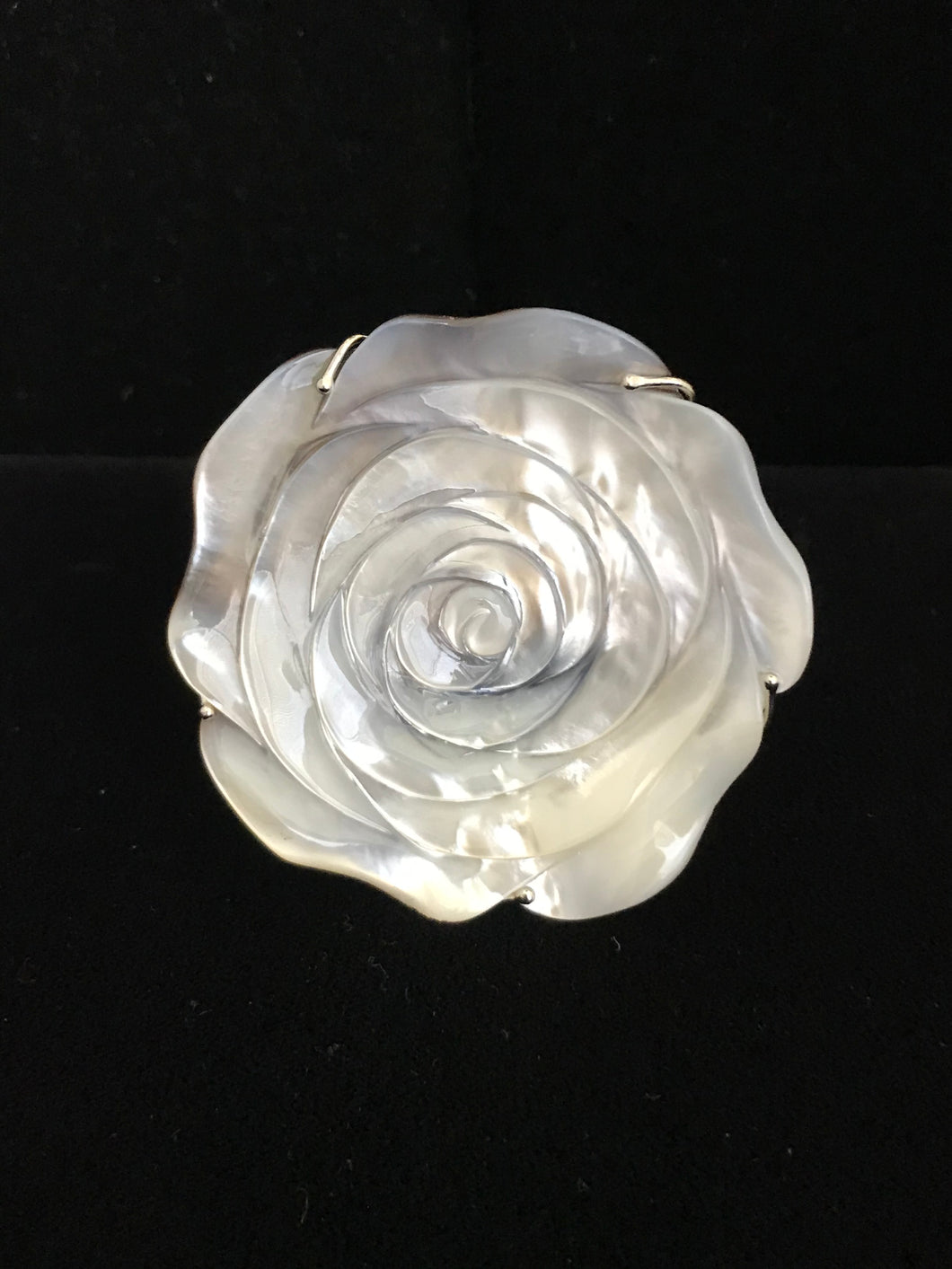 Mother of Pearl Rose Magnet
