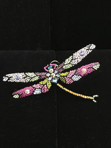 Crystal Dragonfly Magnet