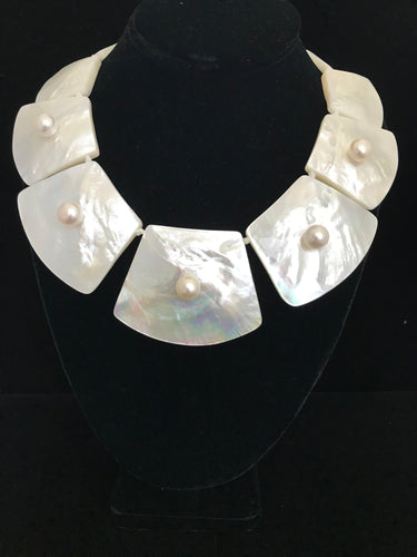 Mother of Pearl Trapezoid Necklace