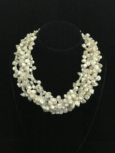 Six Strand Keishe Pearl Necklace