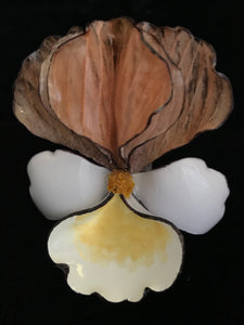 French Resin Orchid Magnet