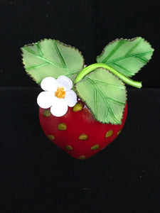 French Resin Strawberry Magnet