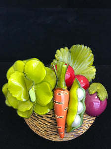 French Resin Veggie Bowl Magnet