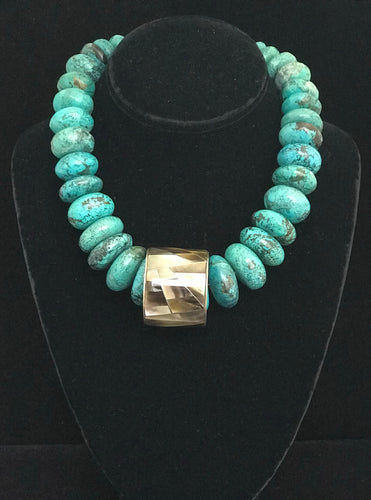Large Turquoise Rondells