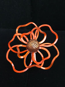 French Resin Open Petal Flower Magnet