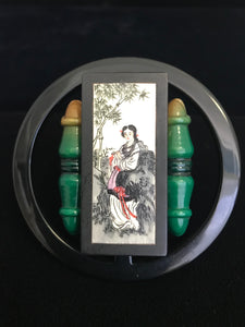 Hand Painted Vintage Mahjong Gambling Chip