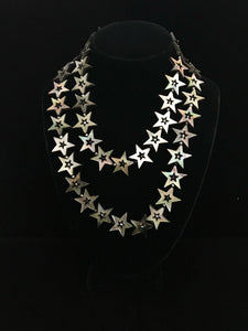 Mother of Pearl Gray Star Necklace