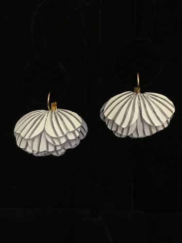 French Resin Folded Petal Earrings