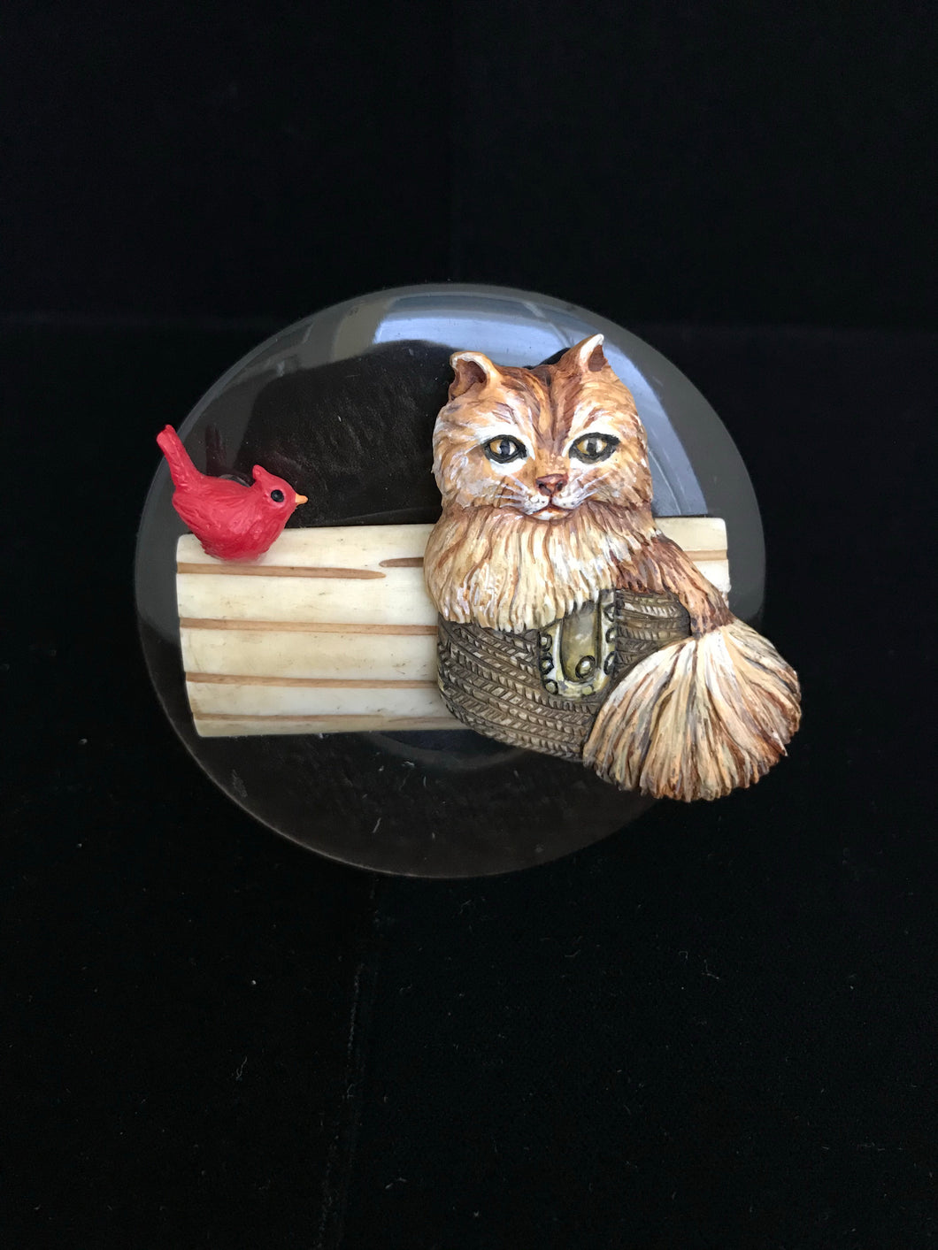 Bali Cat With Fishbowl Magnet
