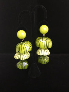 French Resin Dangling Tier Earrings
