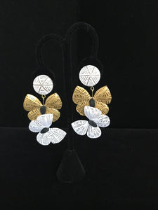 French Resin Butterfly Dangle Earrings