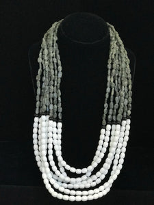 Seven Strand Agate Bib Necklace