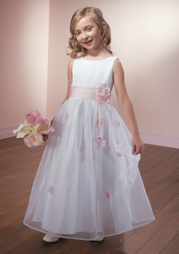 10f46249120 2018 White Flower Girl Dresses Cute Cheap Flower Girl Dresses   CUSAFL026