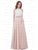 Two Piece Prom Dress Halter Floor-length Sleeveless Satin Simple Cheap Prom Dress/Evening Dress # AX002