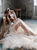Bohemian Wedding Dress Ivory A Line Beach Wedding Dress styles DM011