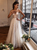 A Line Tulle Wedding Dress with Cap Sleeve Lace Wedding Dress DM012