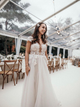A Line Tulle Wedding Dress with Cap Sleeve Lace Wedding Dress Styles DM014