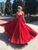 Red Off The Shoulder Prom Dress Sequins Cheap Wedding Dress #DM017