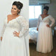 Bohemian Plus Size Chiffon Wedding Dress Cheap Long Sleeve V Neck A Line Beach Bridal Gowns #DM022