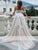 Ivory Lace Wedding Dress A Line Tulle Off The Shoulder Bridal Gowns DM023