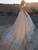 Scoop Lace Applique A Line Wedding Dresses Sleeveless Tulle Boho Bridal Gown DM025