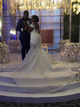 African Bride Mermaid Wedding Dress Plus Size Lace Scoop Bridal Gowns DM026