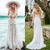 Sexy Boho Beach Lace Mermaid Elegant Wedding Dress Sweetheart Bridal Dress DM029