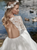 Boho Long Sleeves Wedding Dress Lace Top New Bridal Dress Chiffon Wedding Gowns DM030