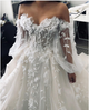 Off The Shoulder A Line Wedding Dress Cheap Beach Lace Wedding Dress DM036