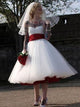 Tulle Short Wedding Dress Sweetheart Cheap Beach Wedding Gowns DM042