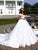 Off The Shoulder Wedding Dress Satin Customed Wedding Gowns With Sleeves DM043