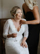 Lace Plus Size Wedding Dress V Neck Wedding Gowns With Sleeves DM045