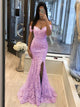Mermaid Lace Prom Dress Off The Shoulder Sexy Evening Dress With Sleeve DM059