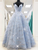 Chic A Line Prom Dress Sequins Sky Blue African Evening Dress DM075