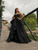 Black Organza Sweetheart Prom Dress Custom Plus Size Evening Dress DM086