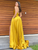 Chic A Line Prom Dress Yellow Cheap Custom African Evening Dress DM089